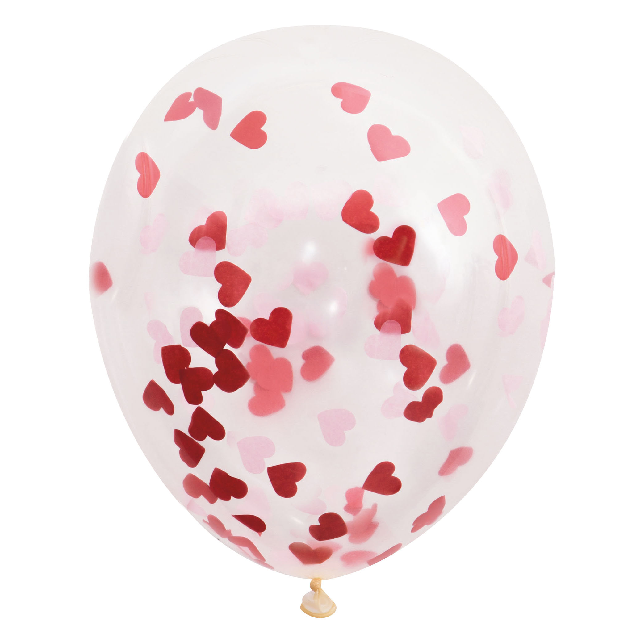 Latex Heart Valentine's Day Confetti Balloons, 16 in, Red & Pink, 5ct