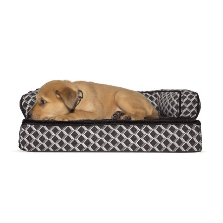 Furhaven Pet Dog Bed Orthopedic Plush Décor Comfy Couch Sofa Style