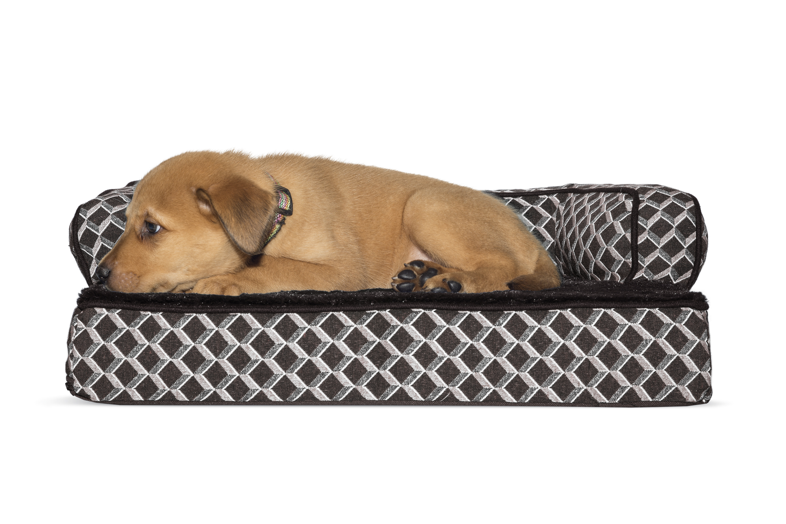 FurHaven Pet Dog Bed | Orthopedic Plush U0026 Décor Comfy Couch Sofa Style Pet  Bed