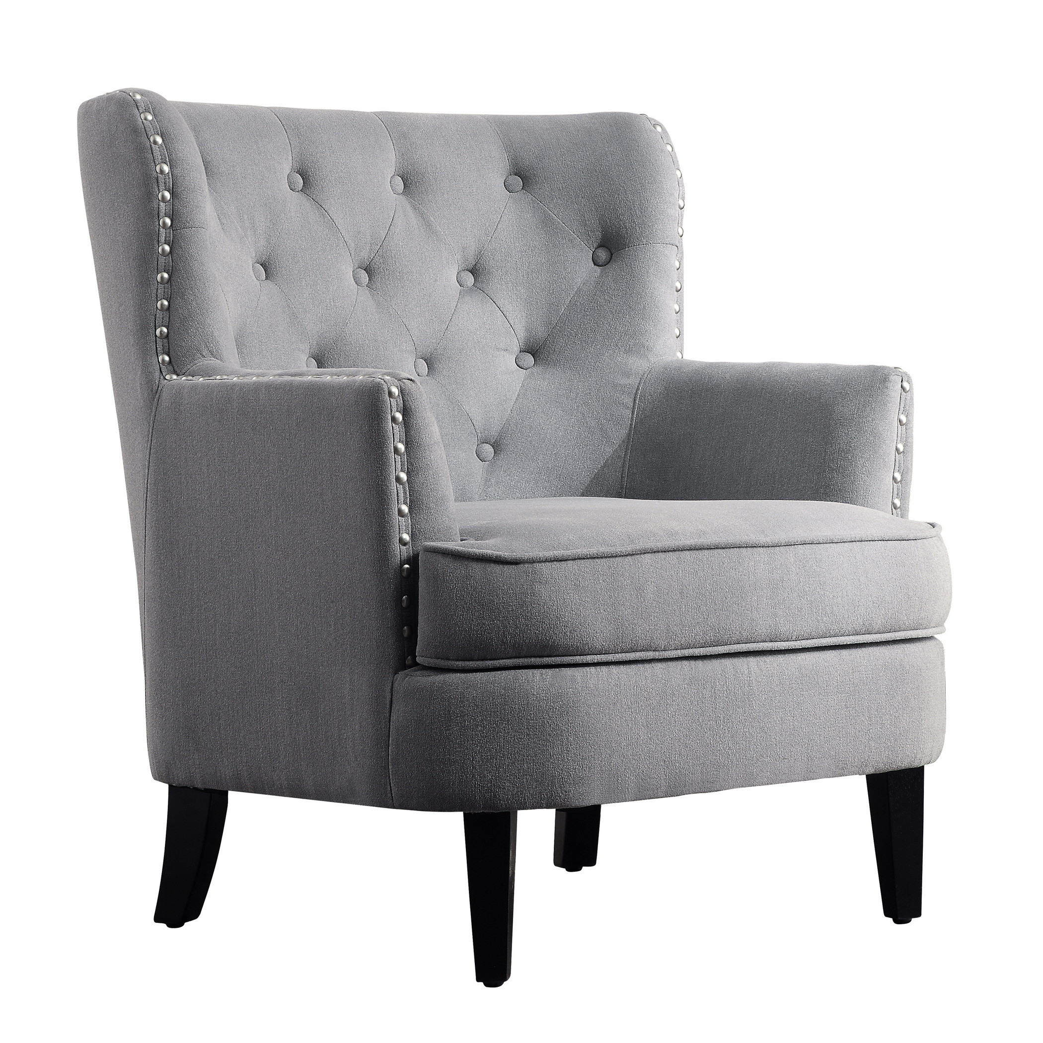Alessandra Wingback Club Chair Accent Chairs Multiple