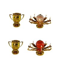 2 Pack Sport Ball Trophy Birthday Exciting Candle  (Basketball and Baseball) - Boys Prefer These 10:1 Over The Flower Variation Musical Birthday Candle