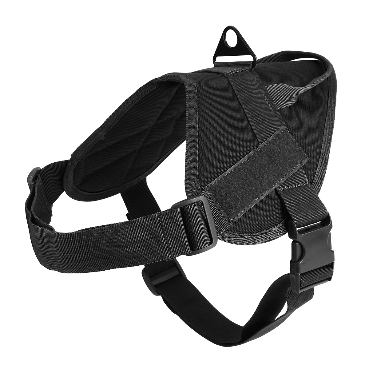 L Size 1000D Nylon Dog Vest Harness Outdoor Canine Training Tactical K9 Service Molle Jacket with Handle