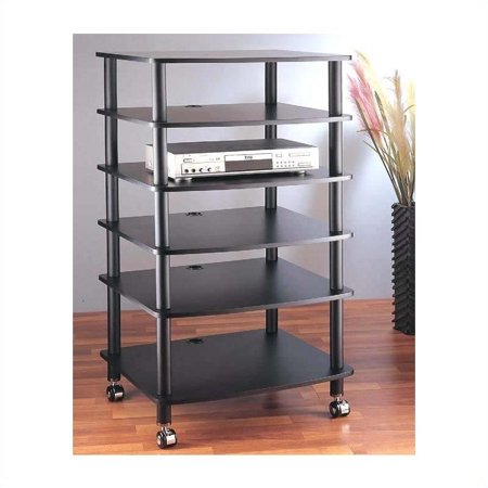 VTI AR406 6 Shelf Black Audio Rack ()
