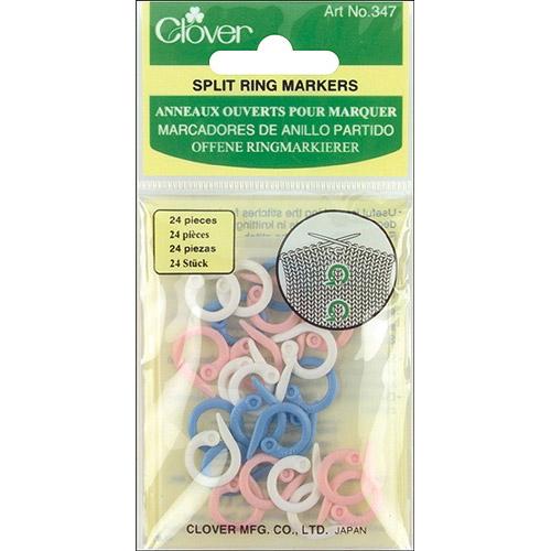 Clover Split Stitch Marker Rings, Assorted Sizes, 25-Pack