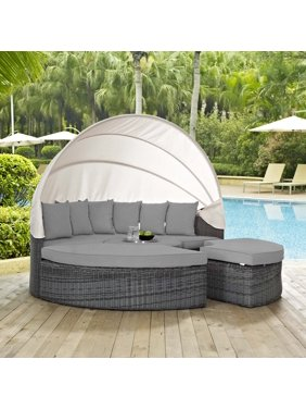 Modway Summon Canopy Outdoor Patio Sunbrella Daybed, Multiple Colors