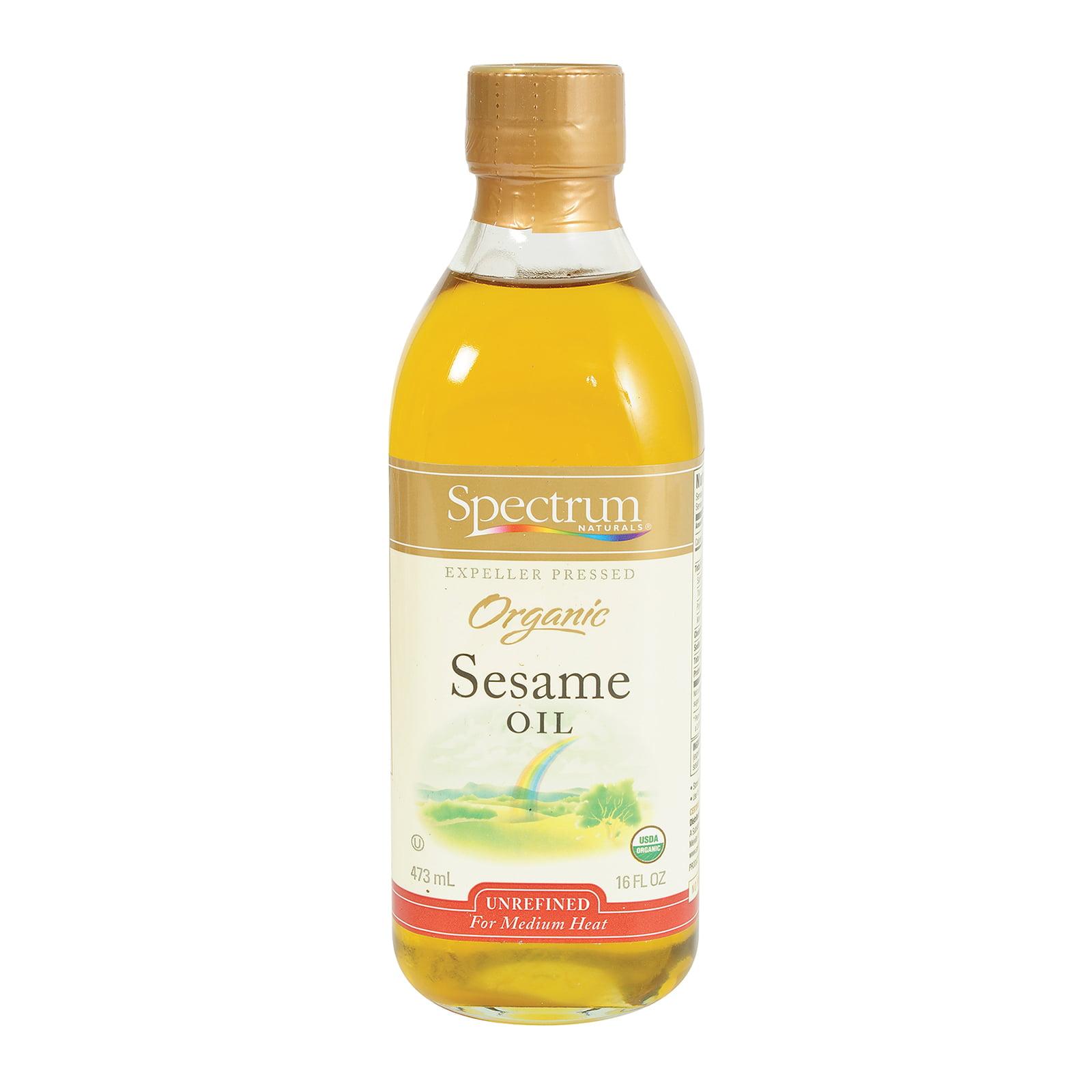 Spectrum Naturals Organic Unrefined Sesame Oil - Case of ...
