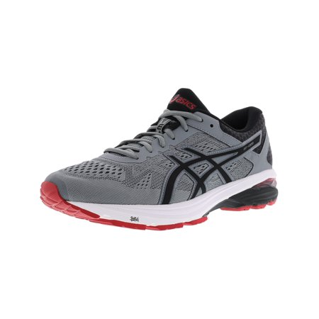 4fd1bc7ba46 Asics Men's Gt-1000 6 Stone Grey / Black Classic Red Ankle-High Running  Shoe - 11M