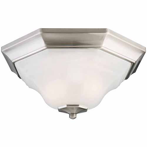 Design House 517953 Barcelona 2-Light Flush Mount Ceiling Light, Satin Nickel Finish