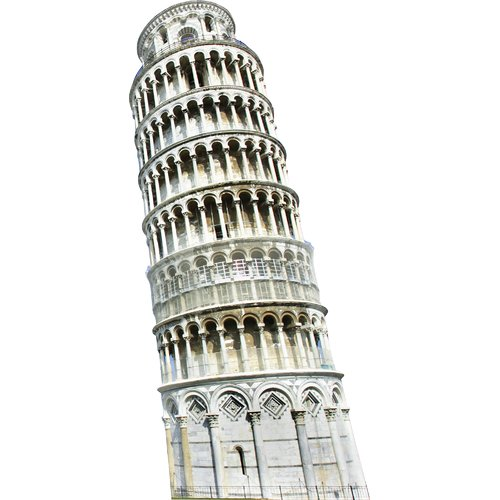 Advanced Graphics Italy Leaning Tower of Pisa Cardboard Standup