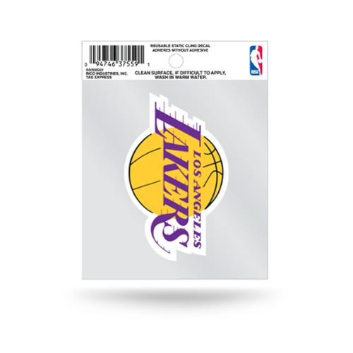 Los Angeles Lakers Official NBA 3.5 inch  Small Static Cling Window Car Decal by Rico