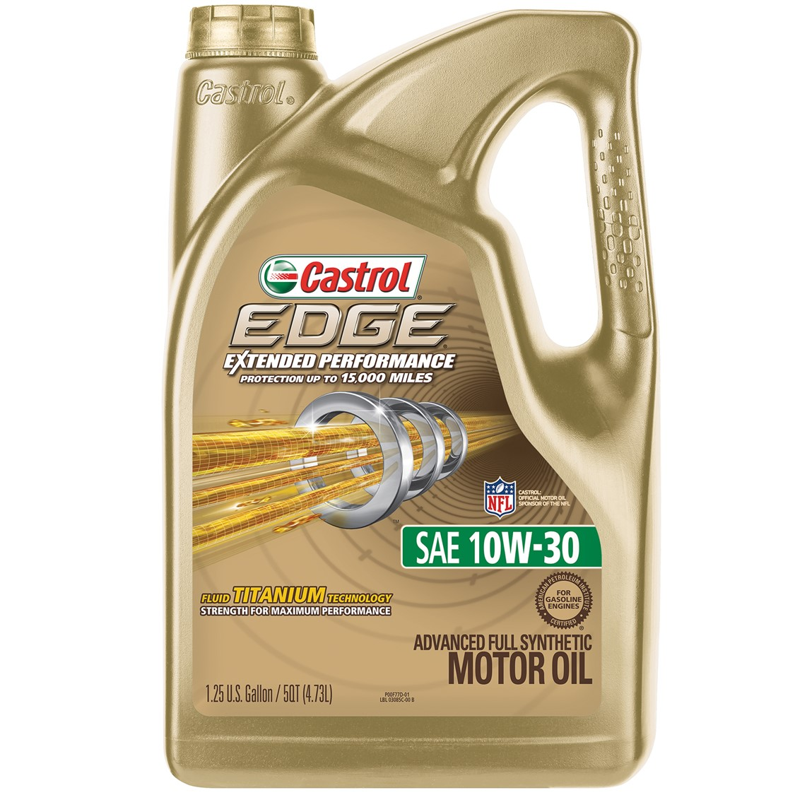 Castrol EDGE Extended Performance 10W-30 Full Synthetic Motor Oil, 5 QT by Castrol