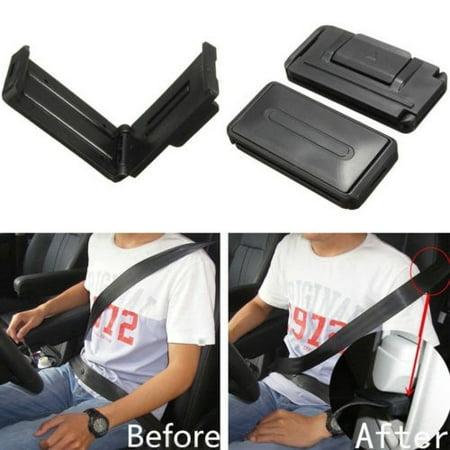 2pcs Car Auto Safety Seat Belt Adjuster Clip Stopper Buckle Improves Comfort Safety Seat Belt Buckle Cover