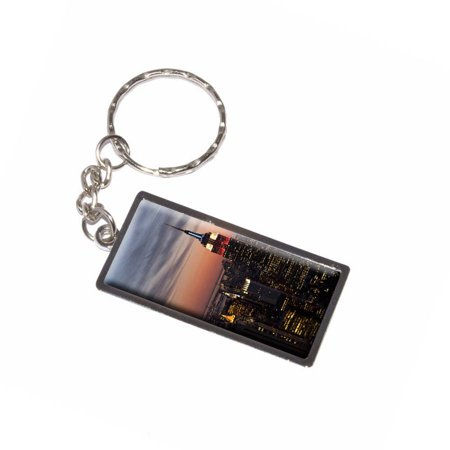 New York City Skyline At Night Empire State Building Keychain Key Chain Ring](Empire State Building Halloween Night)