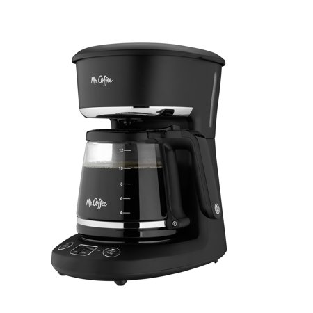 Mr. Coffee 12-Cup Programmable Coffeemaker, Black/Chrome
