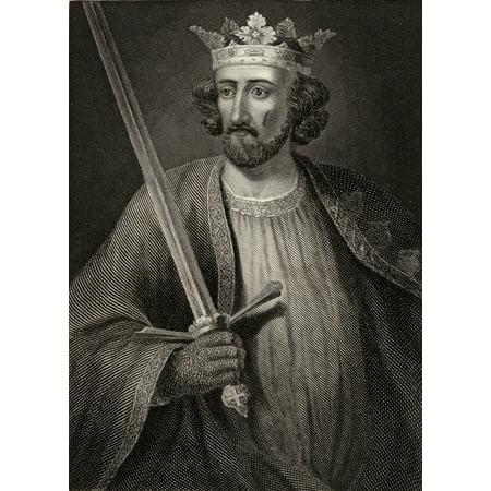 Edward I Aka Longshanks 1239  1307 King Of England Engraving From An Ancient Statue At Caernarvon Castle PosterPrint