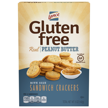 Lance Gluten Free Peanut Butter Sandwich Crackers, 5 Oz, 4 Ct