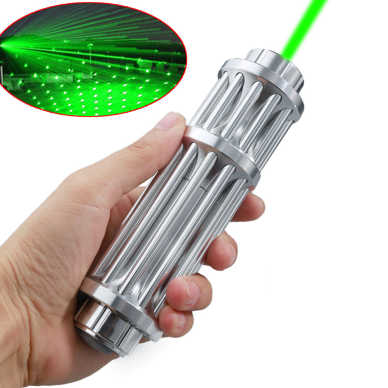 Military High Power 50 Miles Green Laser Pointer Lazer 5mW Pen 532nm Visible Beam Light