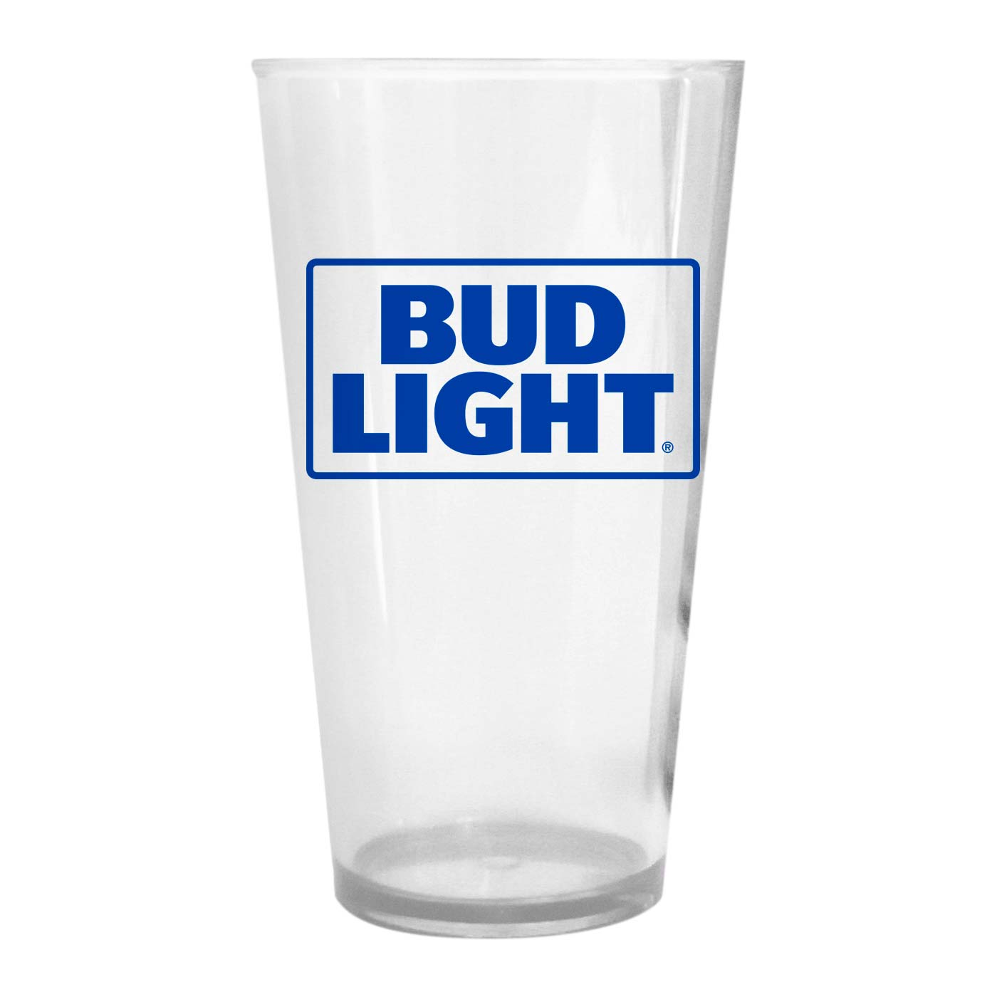 Bud Light Plastic Pint Glass by