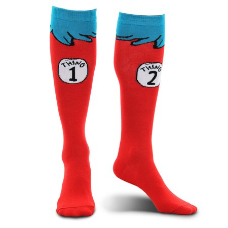 Thing 1 & 2 Socks - Adult - Thing One Thing Two