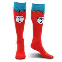 Thing 1 & 2 Socks - Adult