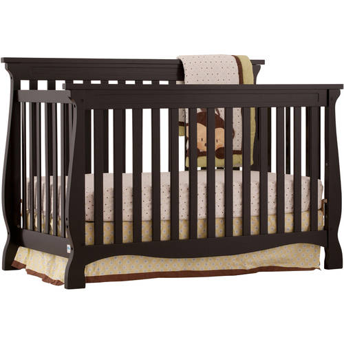 Storkcraft Carrara 4 in 1 Convertible Crib Black