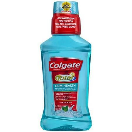 Colgate Total for Gum Health Mouthwash, Clean Mint - 250mL, 8.4 fl oz