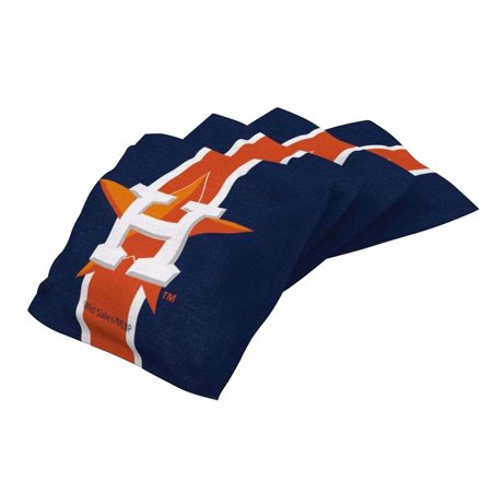 - Houston Astros 4-Pack Striped Cornhole Bean Bags Set - No Size