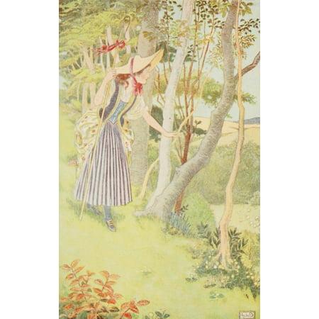 Nursery Rhymes 1916 Little Bow Peep Poster Print by  Leonard Leslie - Little Bow Peep