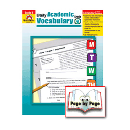 Evan-Moor Daily Academic Vocab Grade 6 Book