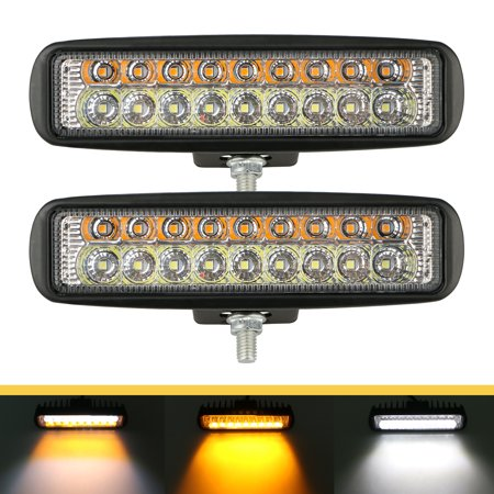 2-pack LED Work Light Bar 6 Inch Spot LED Work Light LED Off Road Driving Fog Lights Bar for SUV ATV Truck Ford 4x4 off-road Jeep
