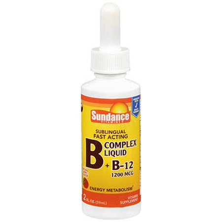 Sundance Vitamins B   B12 Complex 1200 Mcg Liquid Natural Berry Flavor   2 Oz