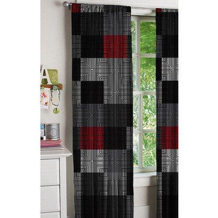Latitude Geo Blocks Curtains, Set of 2 by Idea Nuova