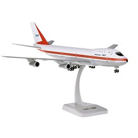 Hogan Wings HG11014G Boeing House 747-100 1-200 City of Everett with Gear Airplane Model ()