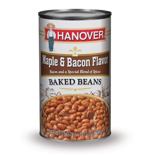 Hanover Baked Beans Maple & Bacon, 28 Oz