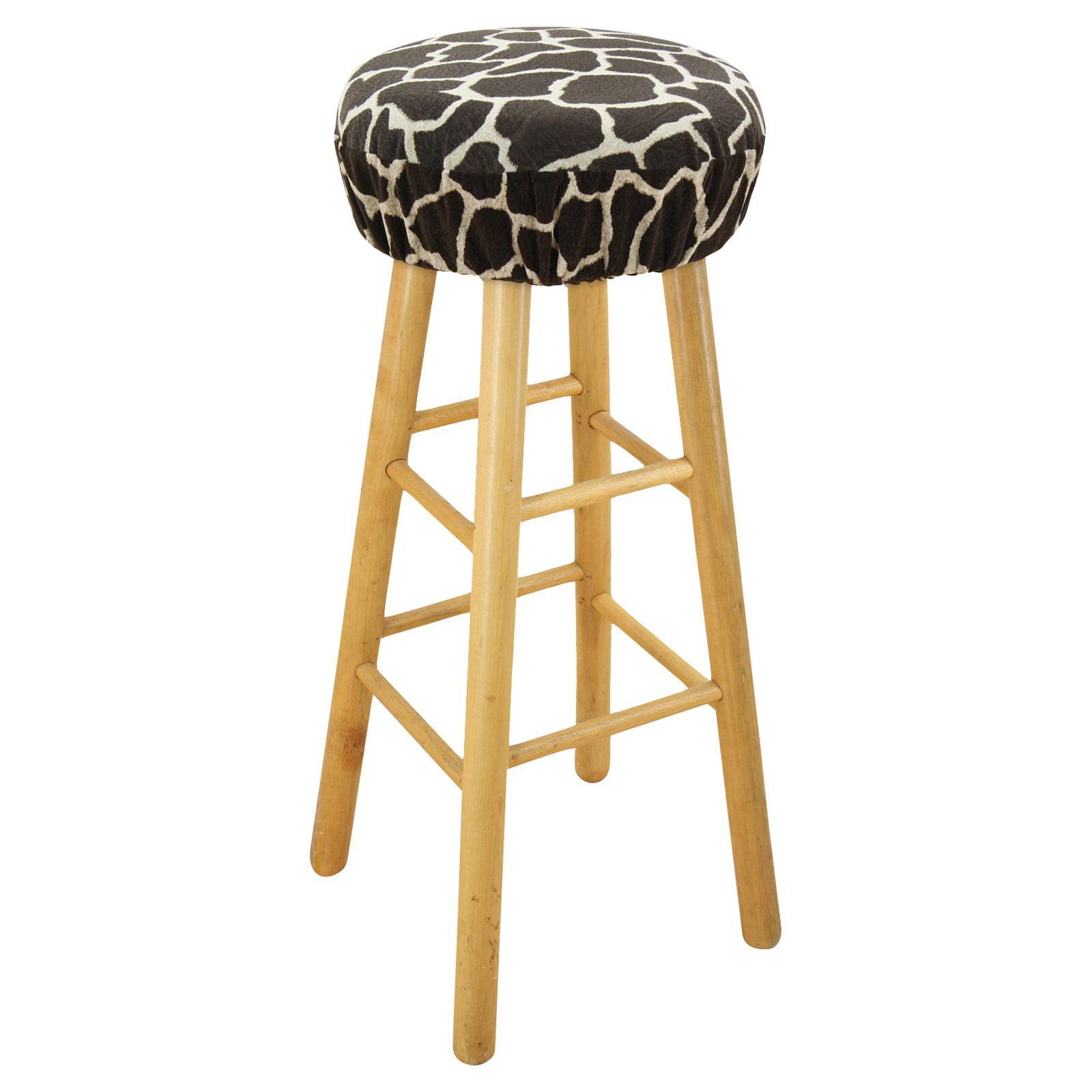 Brite Ideas Living Giraffe Simply Soft 16 in. Round Foam Bar Stool Cushion