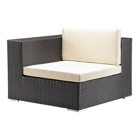 Zuo Cartagena Outdoor Corner Chair in Espresso