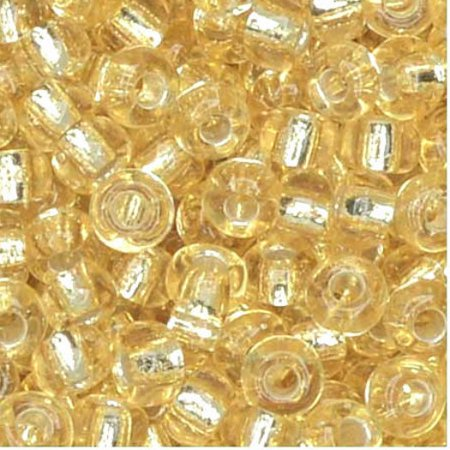 Czech Seed Beads 6/0 Straw Gold Silver Lined (1 Ounce)](Golf Beads)