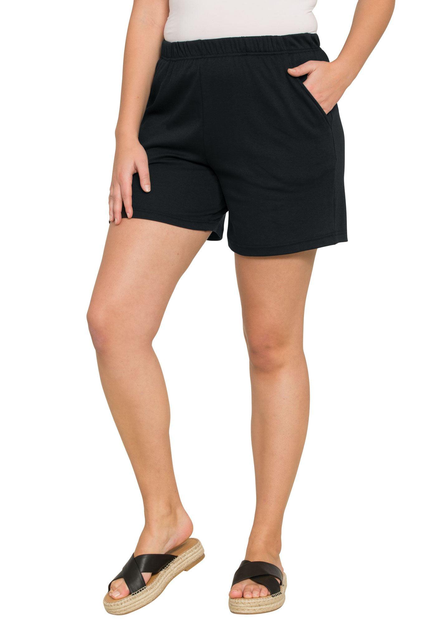 Roaman's Plus Size Soft Knit Shorts