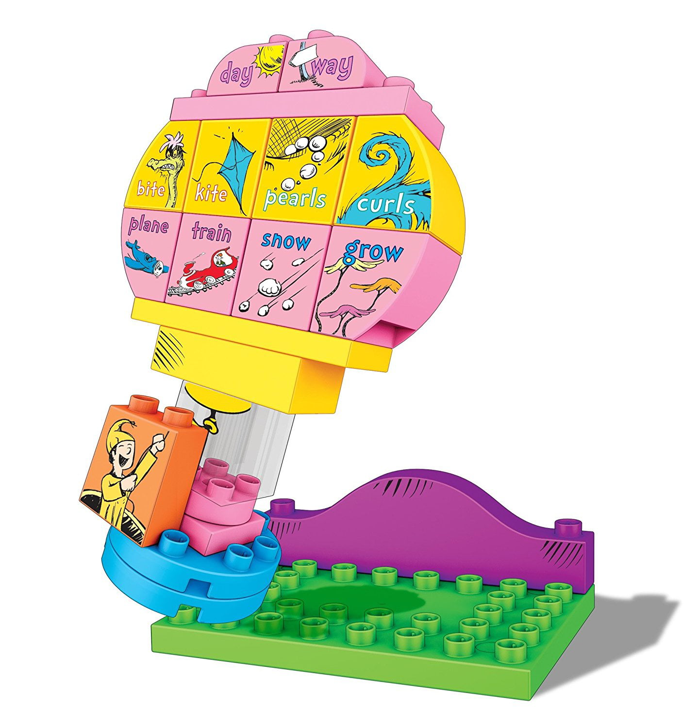 Mega Bloks Dr. Seuss Oh, the Places You'Ll Go Building Set (20 Piece), Multicolor by Mattel