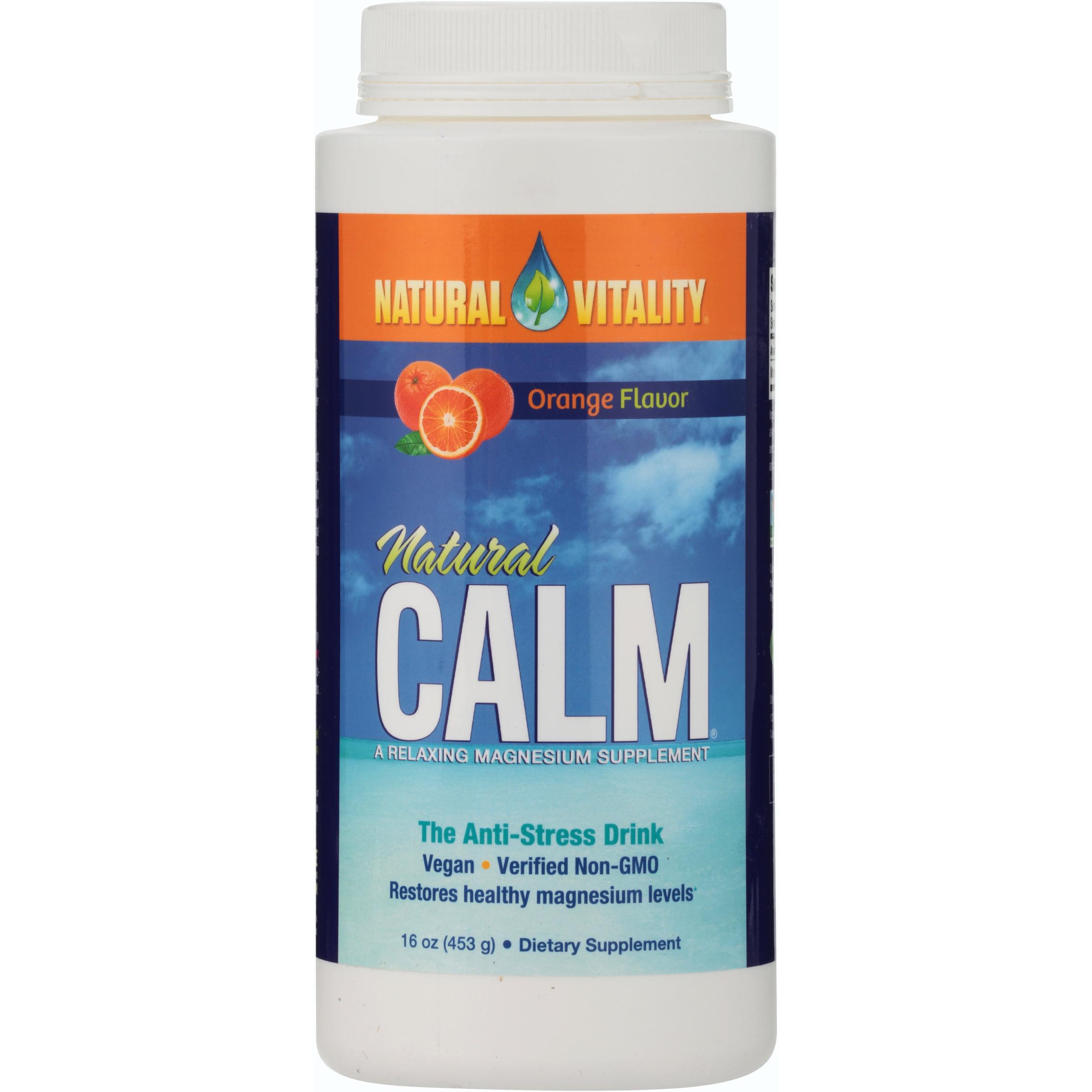 Natural Vitality Natural Calm Orange Flavor The Anti-Stress Drink, 16 oz
