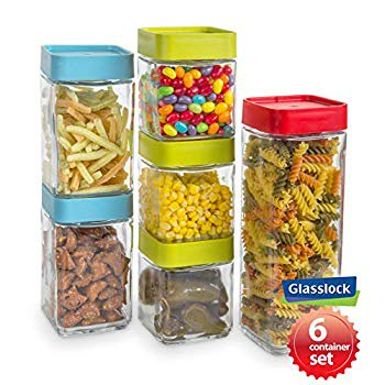 Glasslock 12-Piece Square Block Canister Set