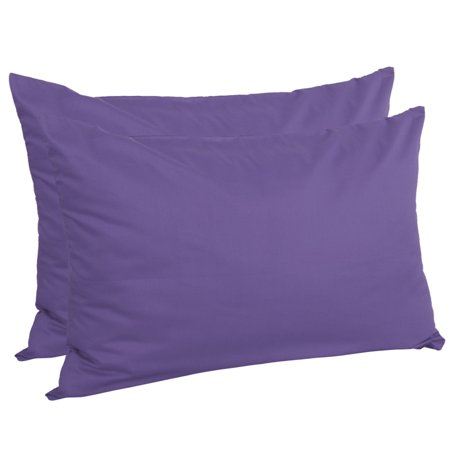 Zippered Pillowcases Covers Egyptian Cotton 2-Pack (20 x 30 Inch, Purple) - image 5 of 5