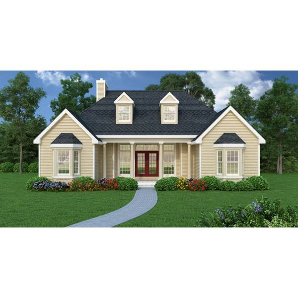 TheHouseDesigners-4676 Ranch House Plan with Crawl Space Foundation (5 Printed Sets)