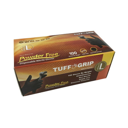 Black Diamond Grip Industrial Nitrile Gloves. Size: Large Lot of 3 Pack(s) of 1 Bag/Box