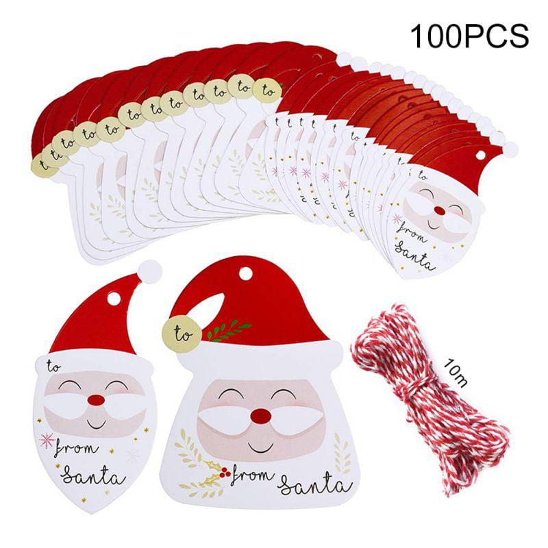 Santa Claus Christmas and Seasonal Gift and Favor Tags-Vintage Style Santa Tag-Set of 12