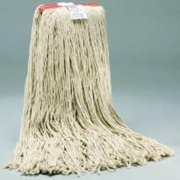 """RENOWN GIDDS2-881575 Cut-End Cotton Mop Head with 1"""" Headband (12 Mop Heads Per Case), 32 oz, White"""