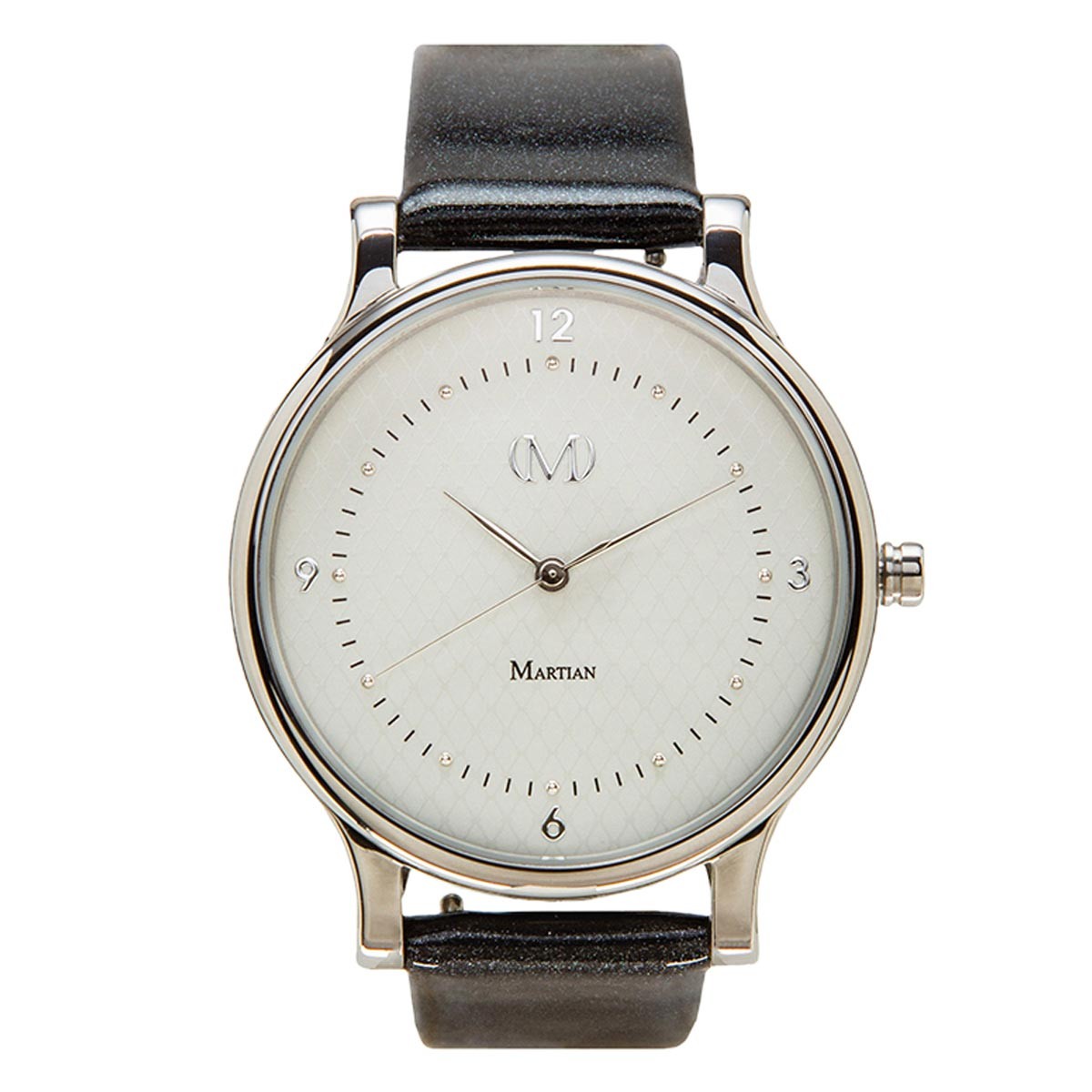 Martian MPS01CL032 Woman's CL03 mVip Light Grey Dial Charcoal Patent Leather Strap Smartwatch