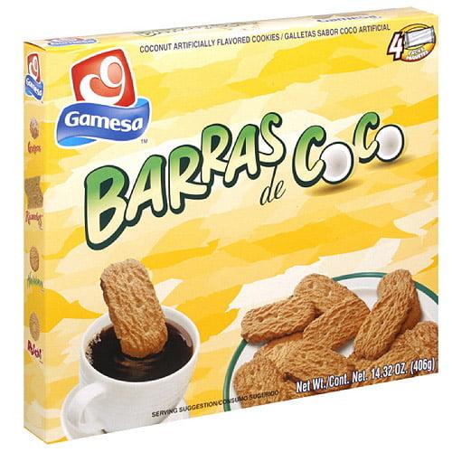 Gamesa Coconut Flavored Cookies, 14.3 oz (Pack of 12) by Generic