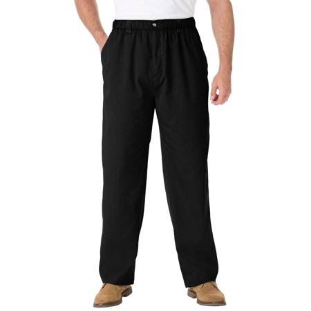 Kingsize Men's Big & Tall Knockarounds Plain Front Pants In Twill Or Denim ()