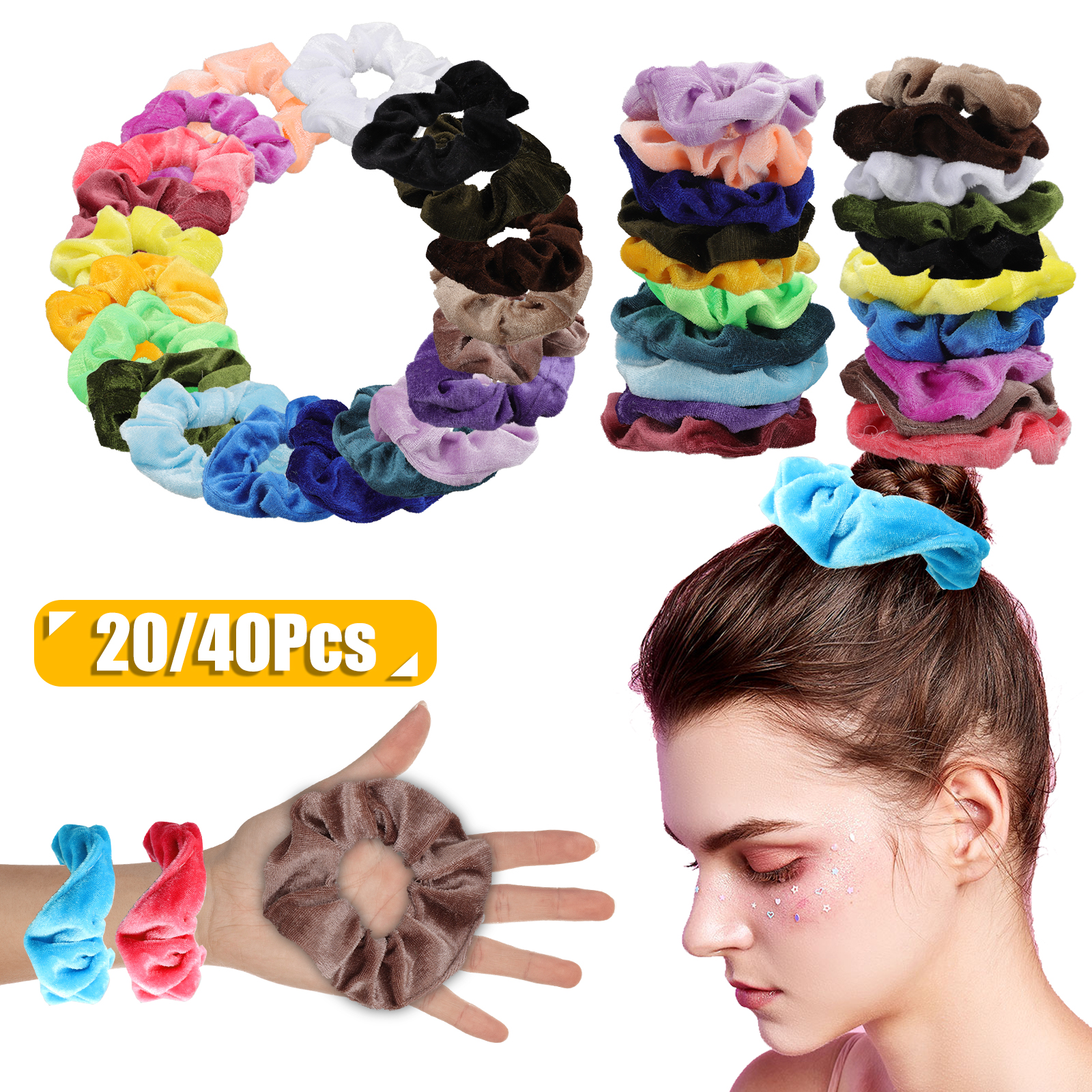 Unicorn Girls Scrunchie Hair Elastic Band Bobble Ladies Girls 5 Inch Choice